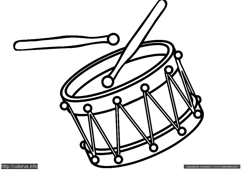 Раскраска Барабан. Раскраска Раскраска барабан для маленьких детей, раскраска для малышей