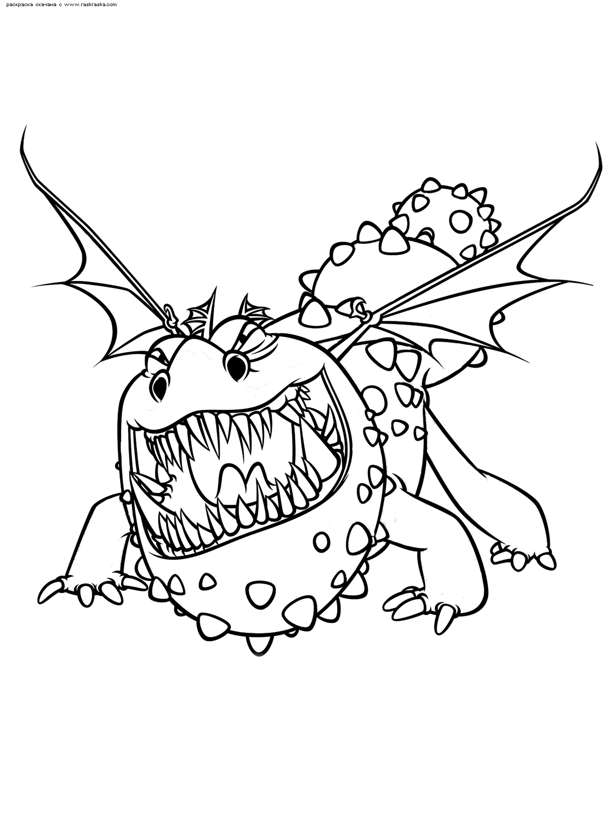 Раскраска Дракон Громмель | Раскраски из мультфильма Как ...