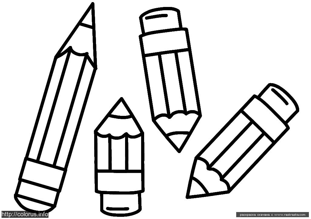 Раскраска Карандаши. Раскраска Простая раскраска для малышей карандаши, раскрась карандаши карандашами