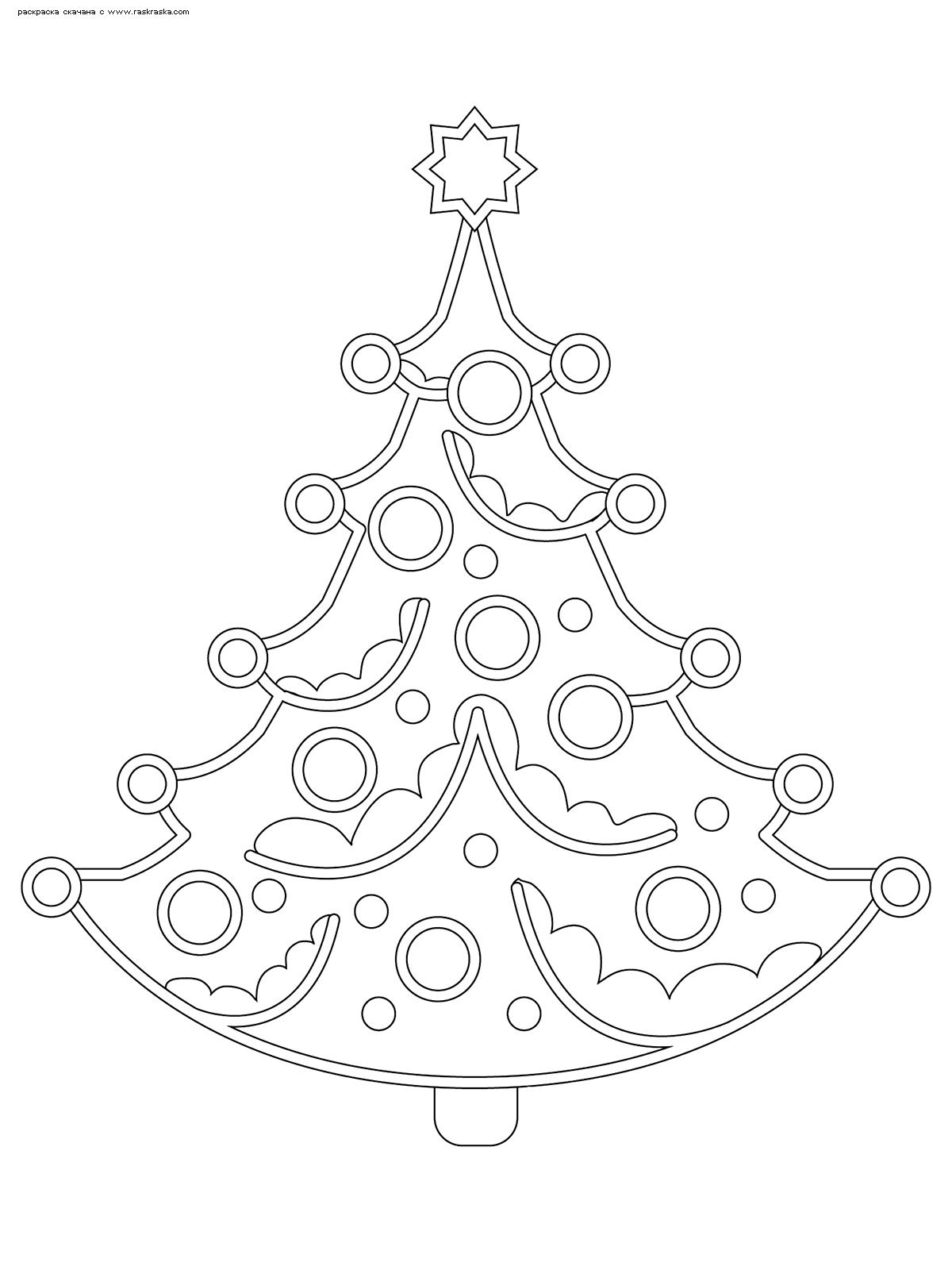 Раскраска Новогодняя елка. Раскраска елка