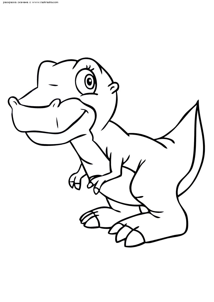 Раскраска Динозаврик. Раскраска динозавр