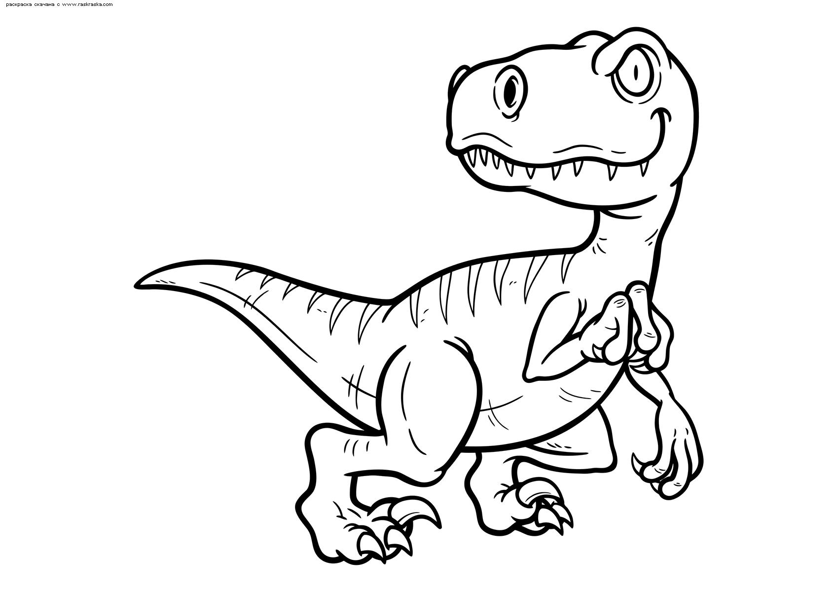 Раскраска Велоцираптор. Раскраска динозавр