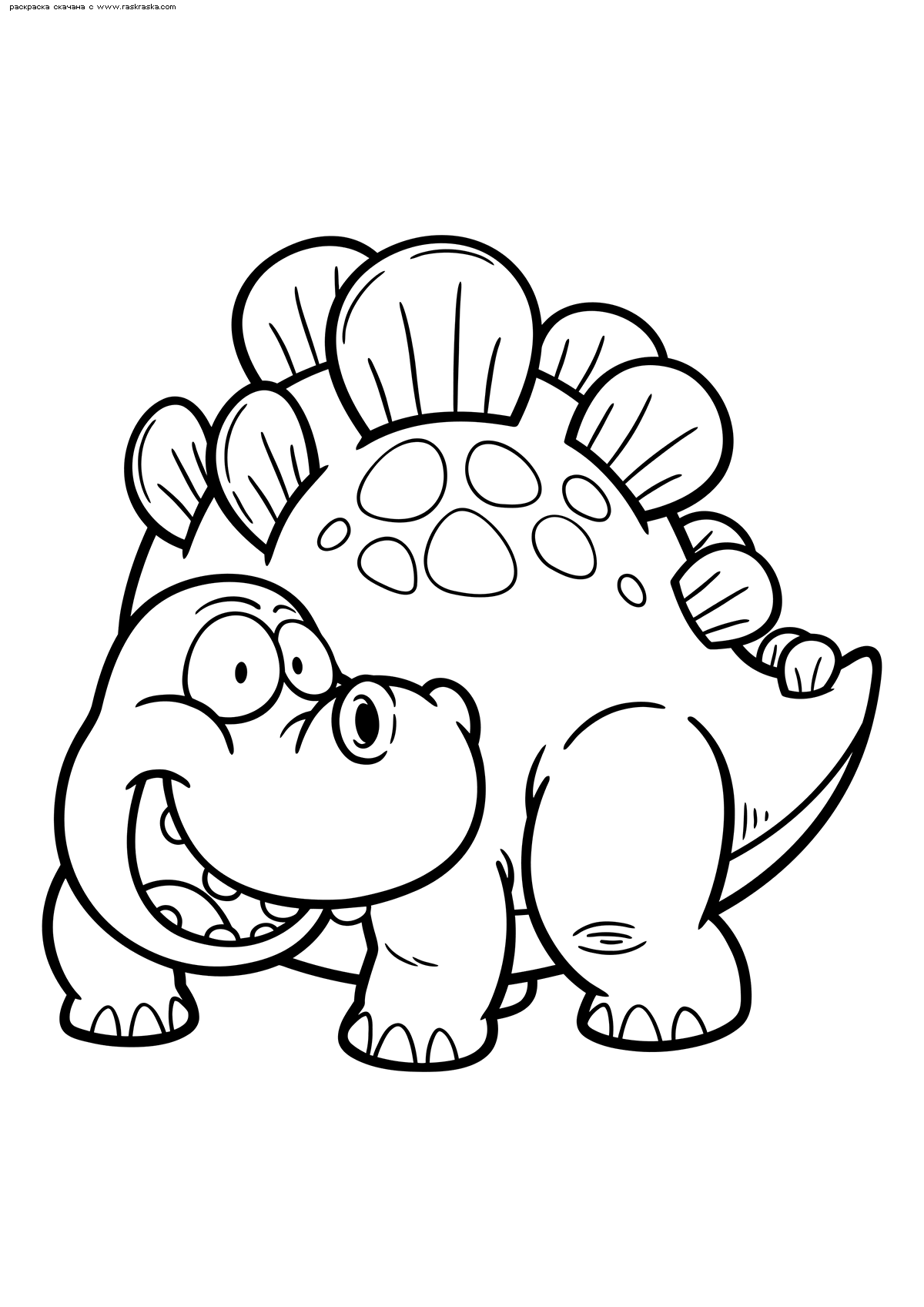 Раскраска Стегозавр. Раскраска динозавр