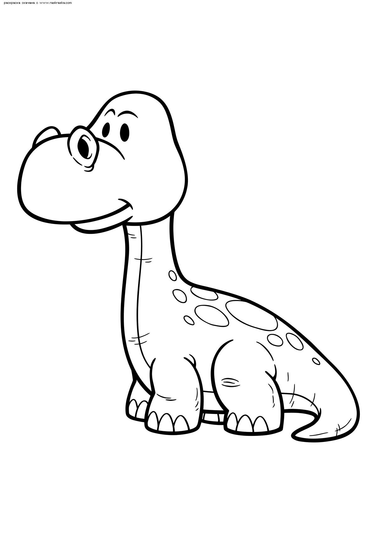 Раскраска Детёныш апатозавра. Раскраска динозавр