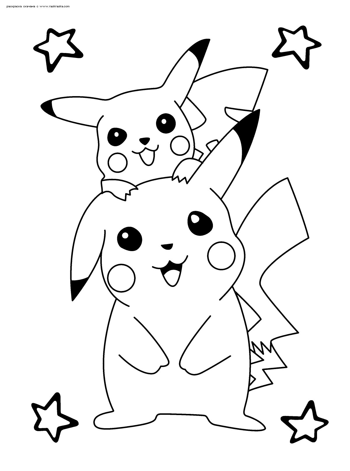 Раскраска Покемоны | Раскраски Пикачу (Pikachu)
