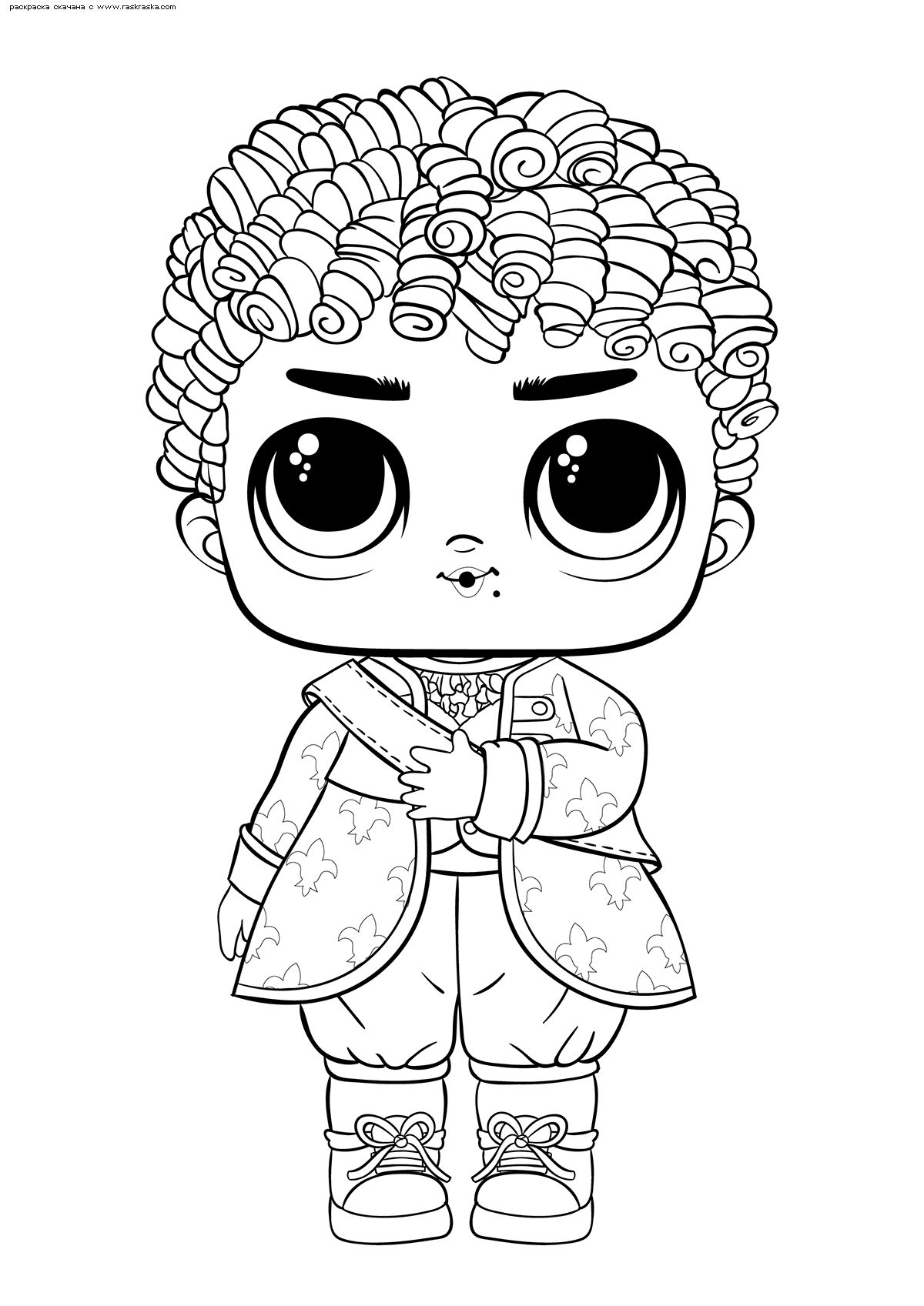 Раскраска ЛОЛ Boy His Royal High Ney (мальчик Его величество Хай-Ней). Раскраска лол