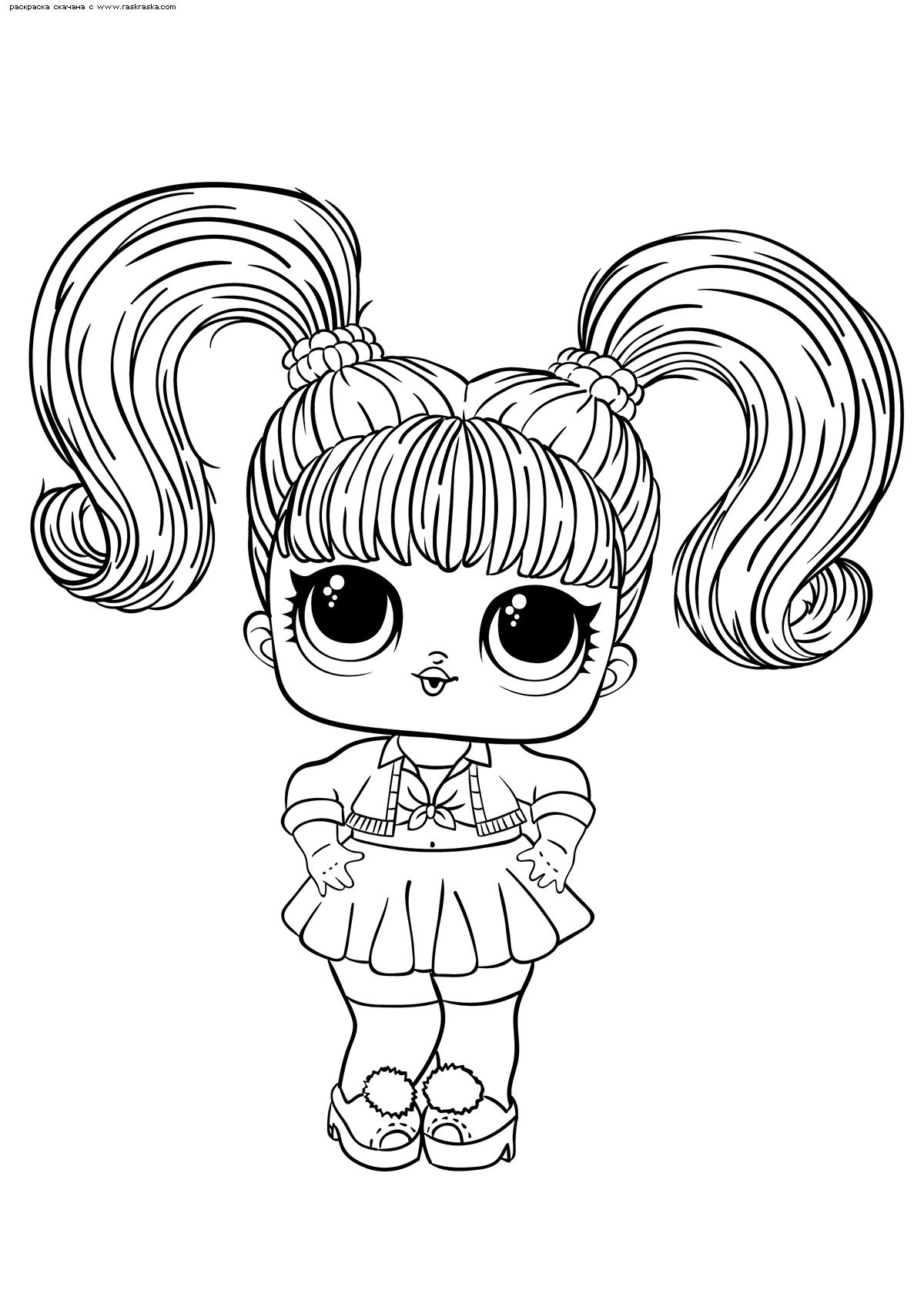 Раскраска ЛОЛ Oops-Baby (малышка Бритни Спирс). Раскраска лол