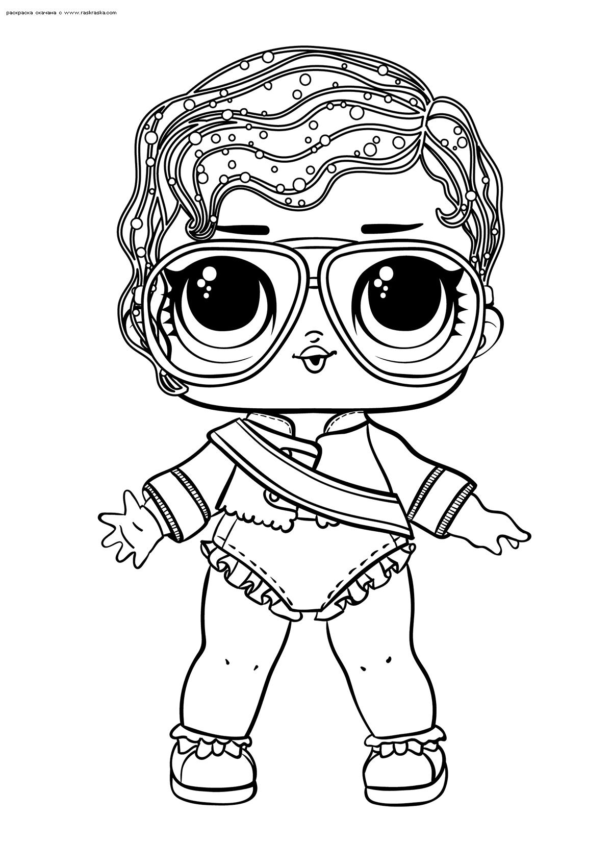 Раскраска ЛОЛ Shimone Queen (Майкл Джэксон) | Раскраски ...