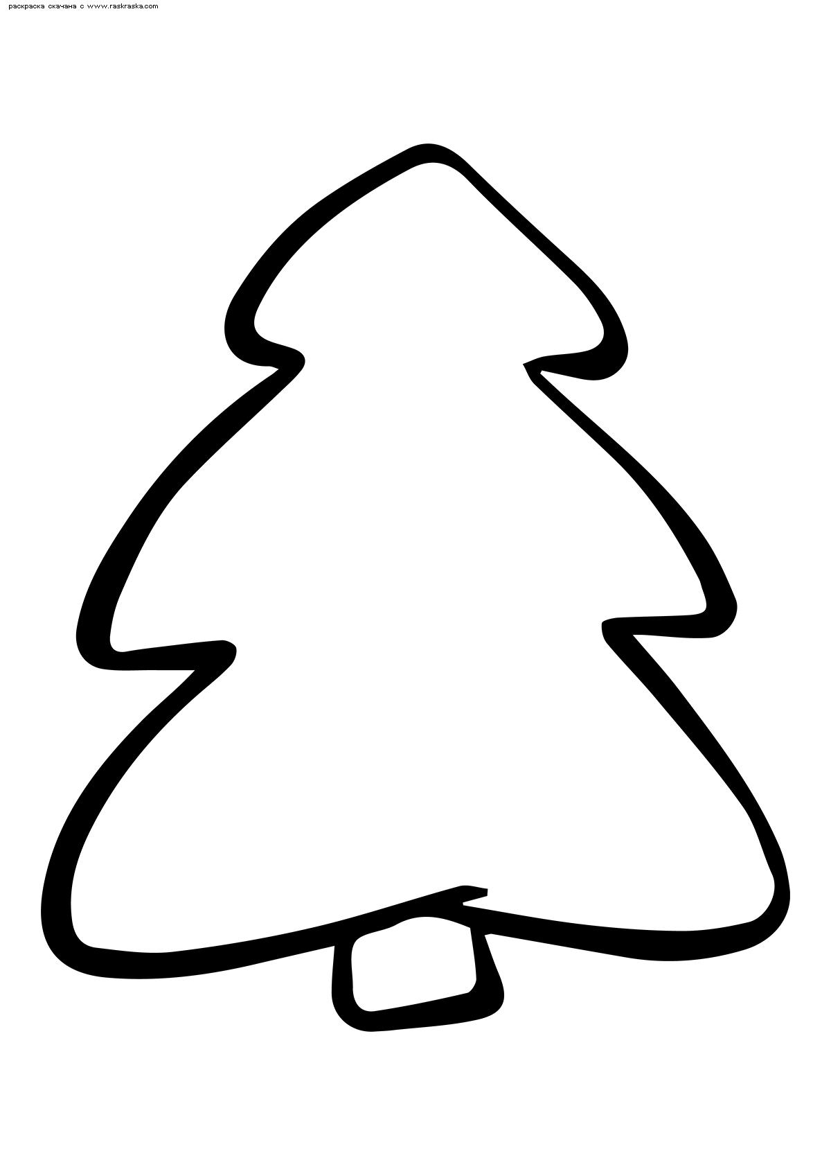 Раскраска Елочка. Раскраска елка