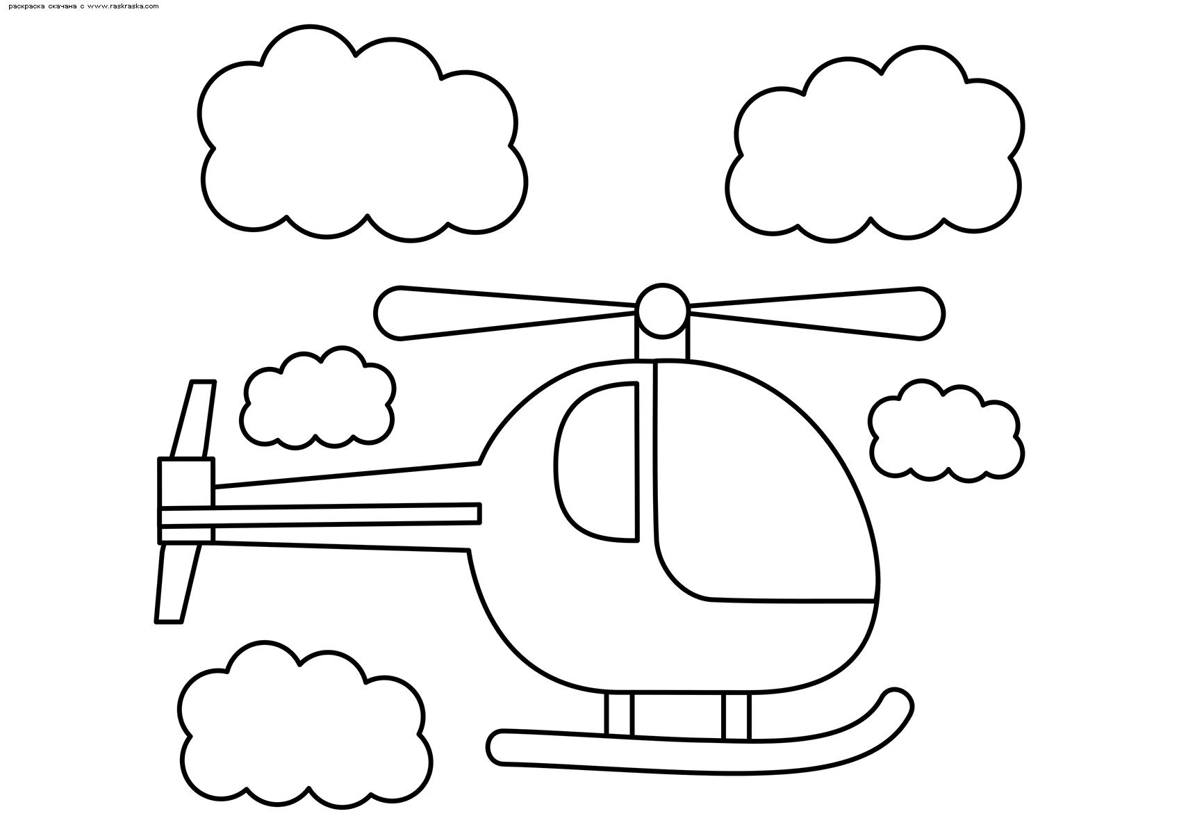 Раскраска Вертолет | Раскраски для детей 4-х лет. Детские ...