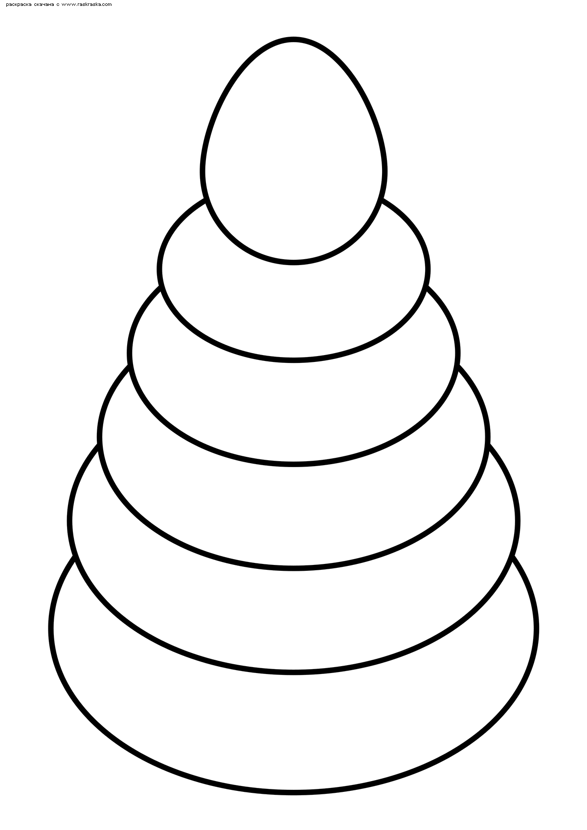 Раскраска Пирамидка | Раскраски для детей 4-х лет. Детские ...