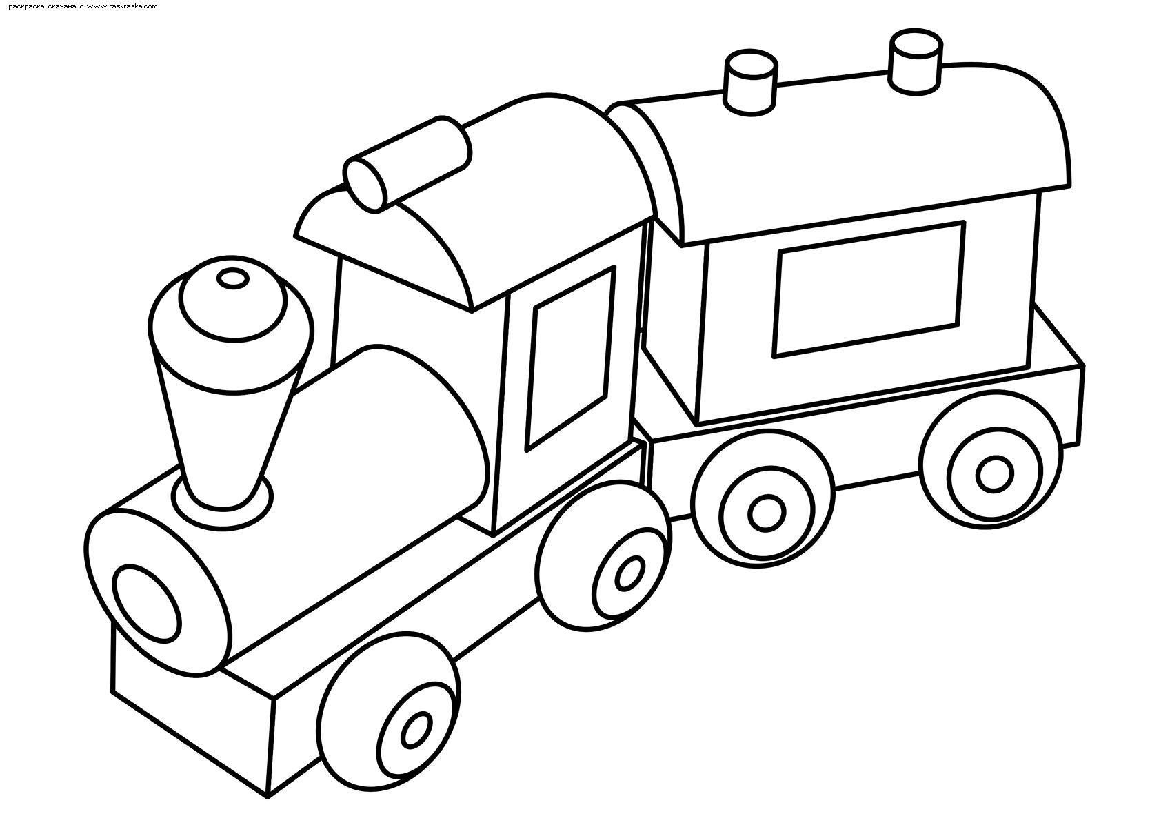 Раскраска Паровоз. Раскраска паровоз, игрушка
