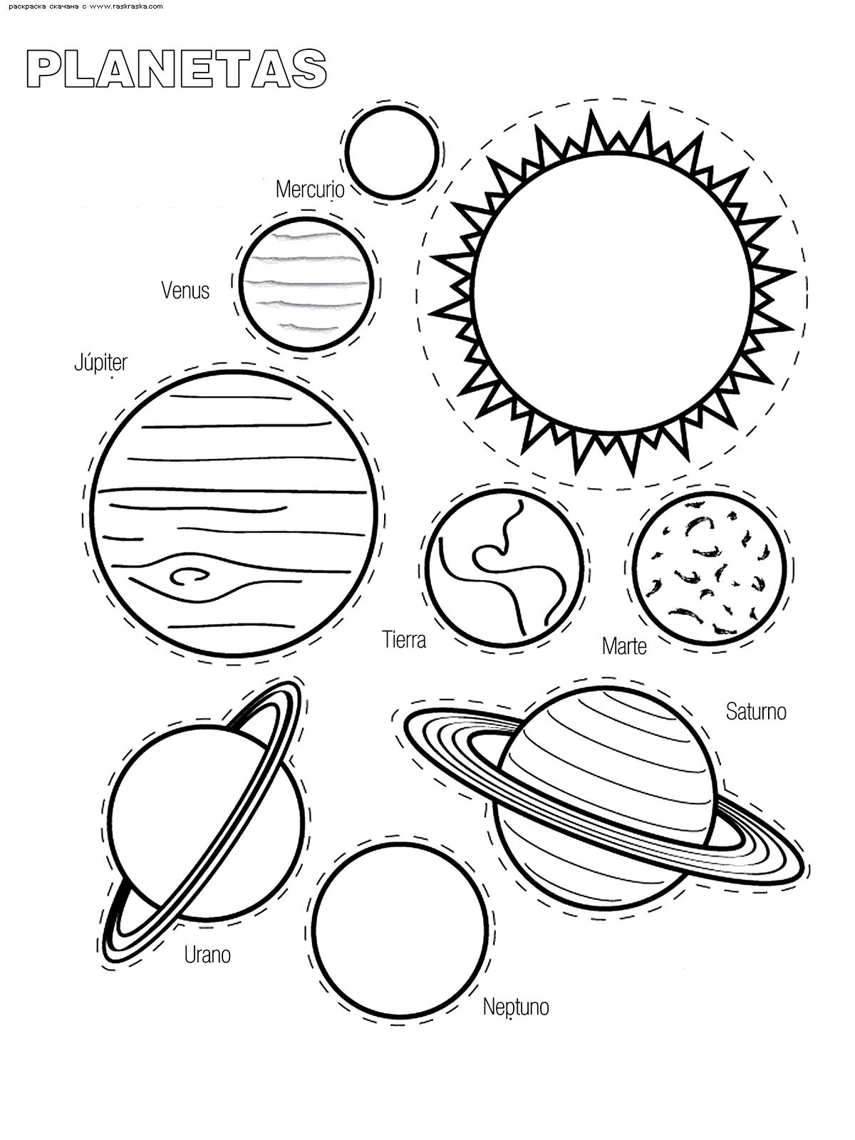 Раскраска Планеты Солнечной системы. Раскраска планеты, солнце