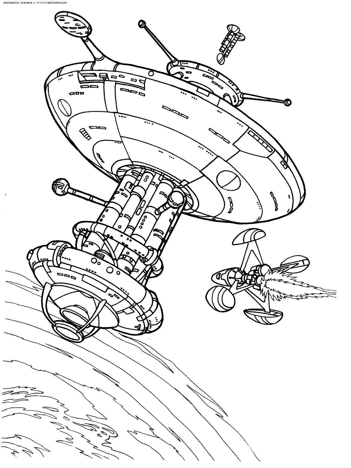 Раскраска Космическая станция. Раскраска станция, космос