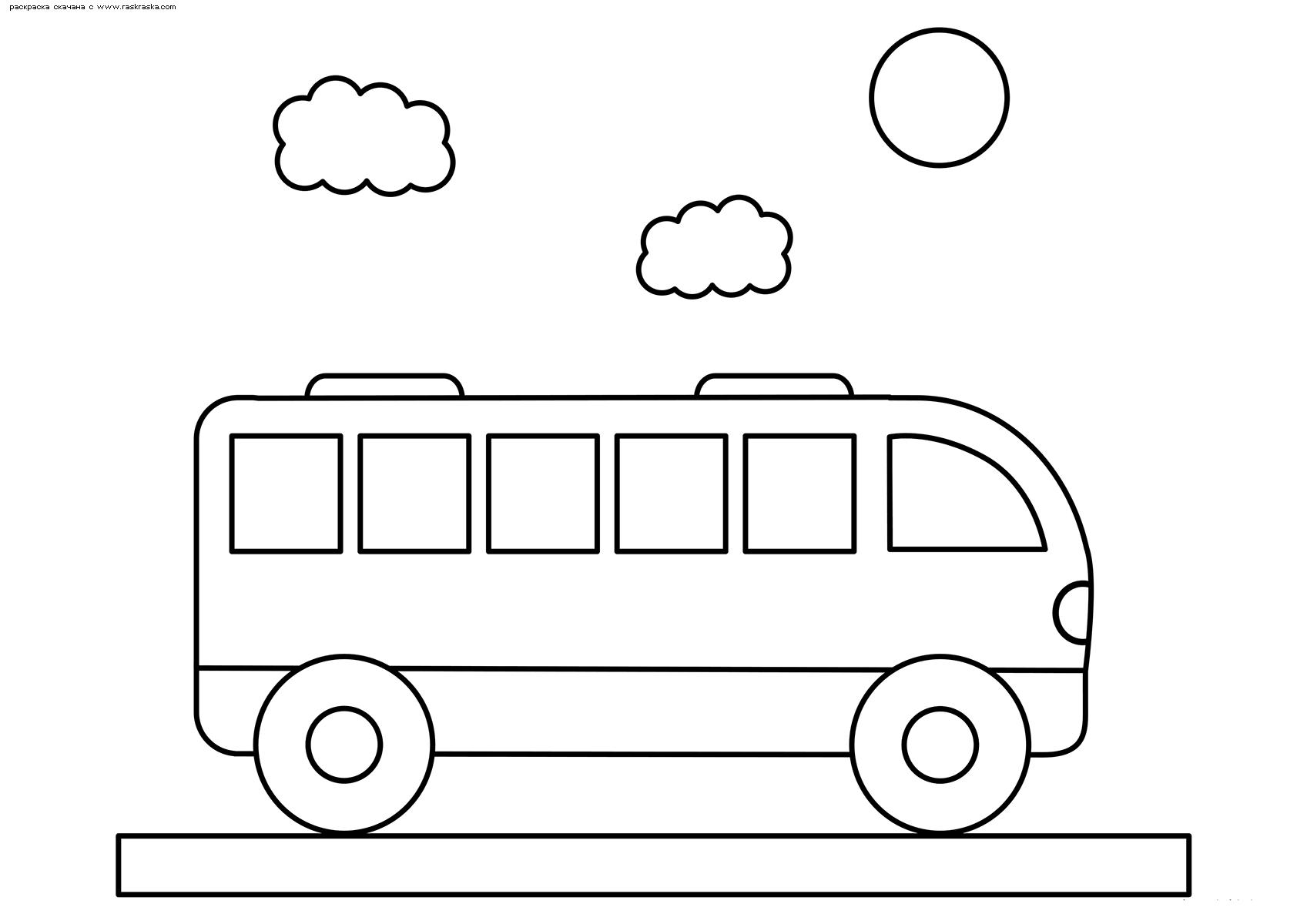 Раскраска Автобус. Раскраска автобус