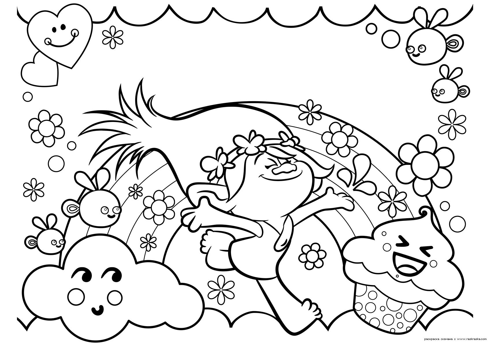 Раскраска Принцесса Розочка | Раскраски из мультфильма ...