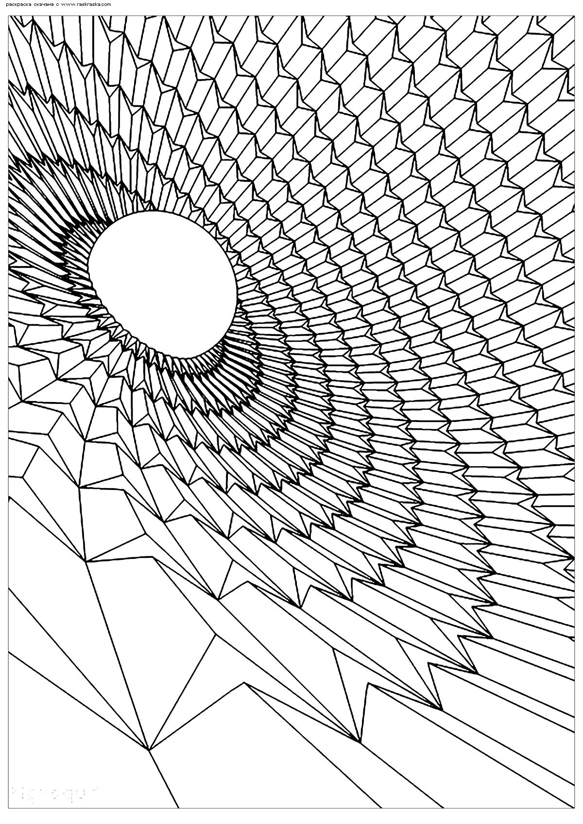 Раскраска Черная дыра. Раскраска космос, антистресс