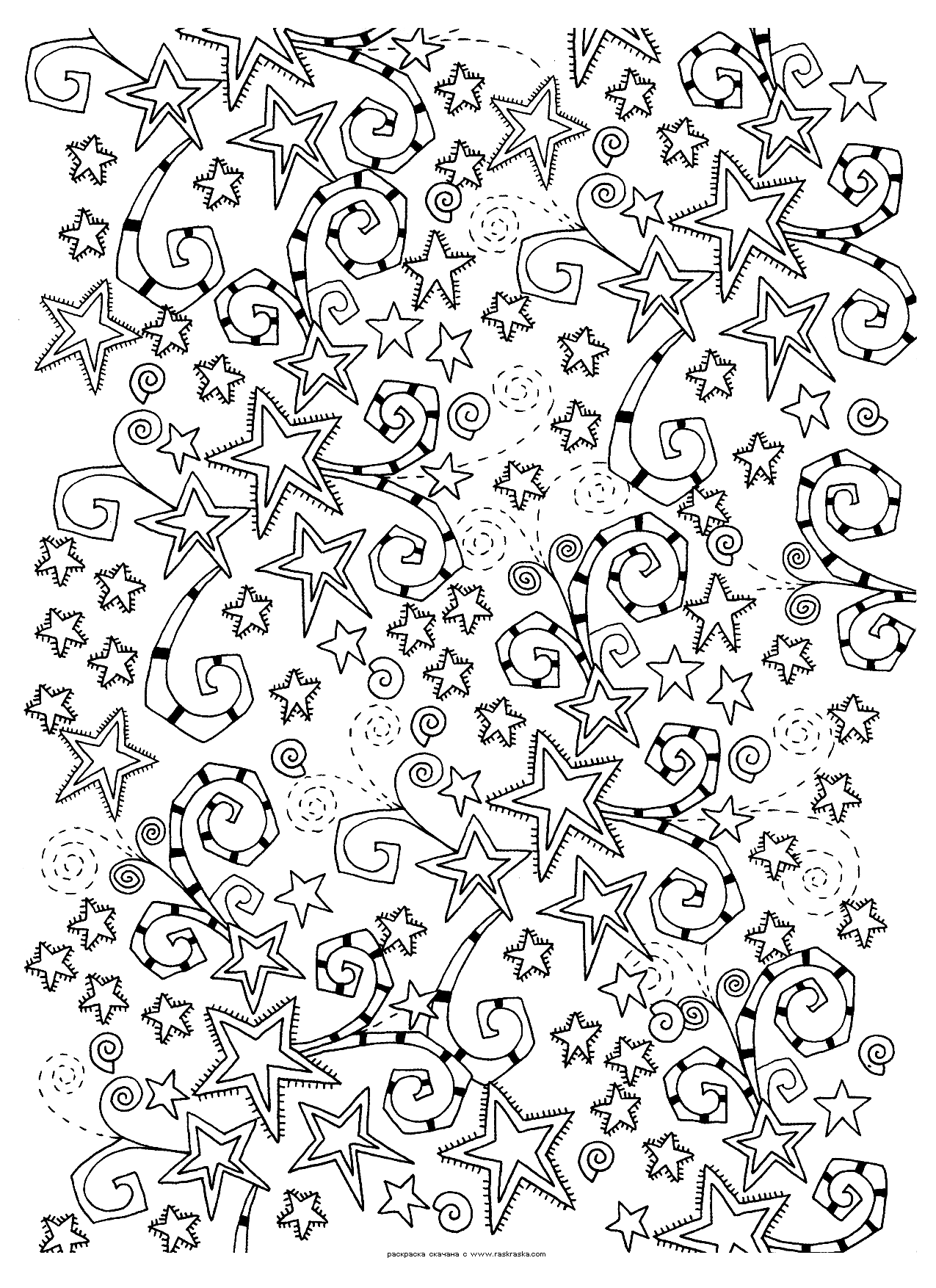 Раскраска Звезды. Раскраска космос, звезды, антистресс