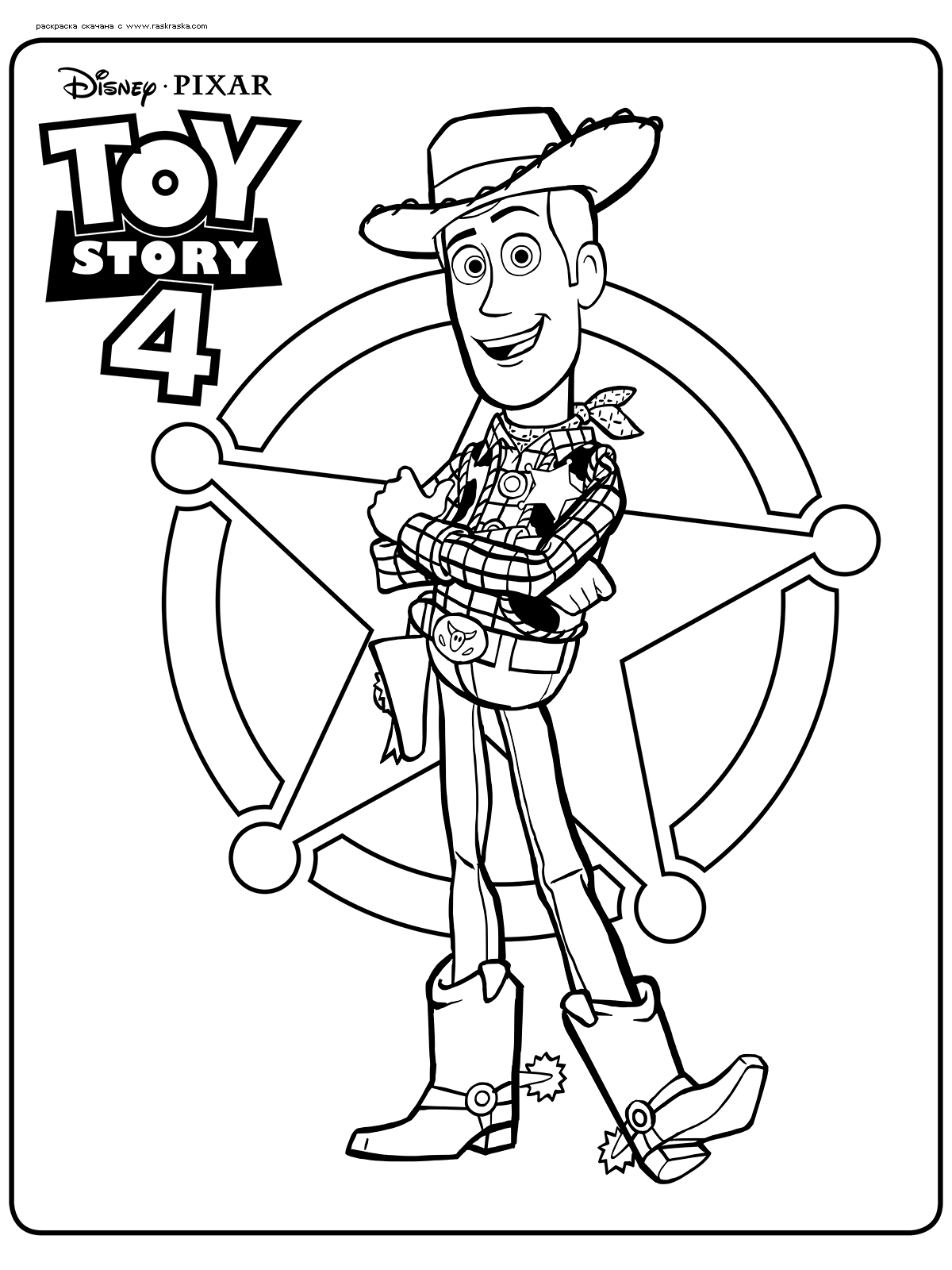 Raskraska Sherif Vudi Raskraski Iz Multfilma Igrushechnaya Istoriya Toy Story