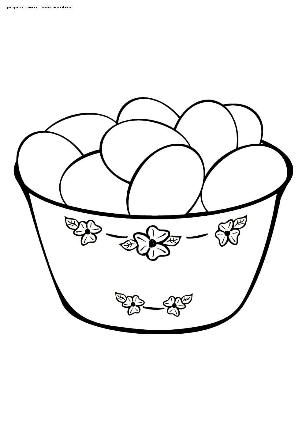 Раскраска Пасхальные яйца. Раскраска яйца