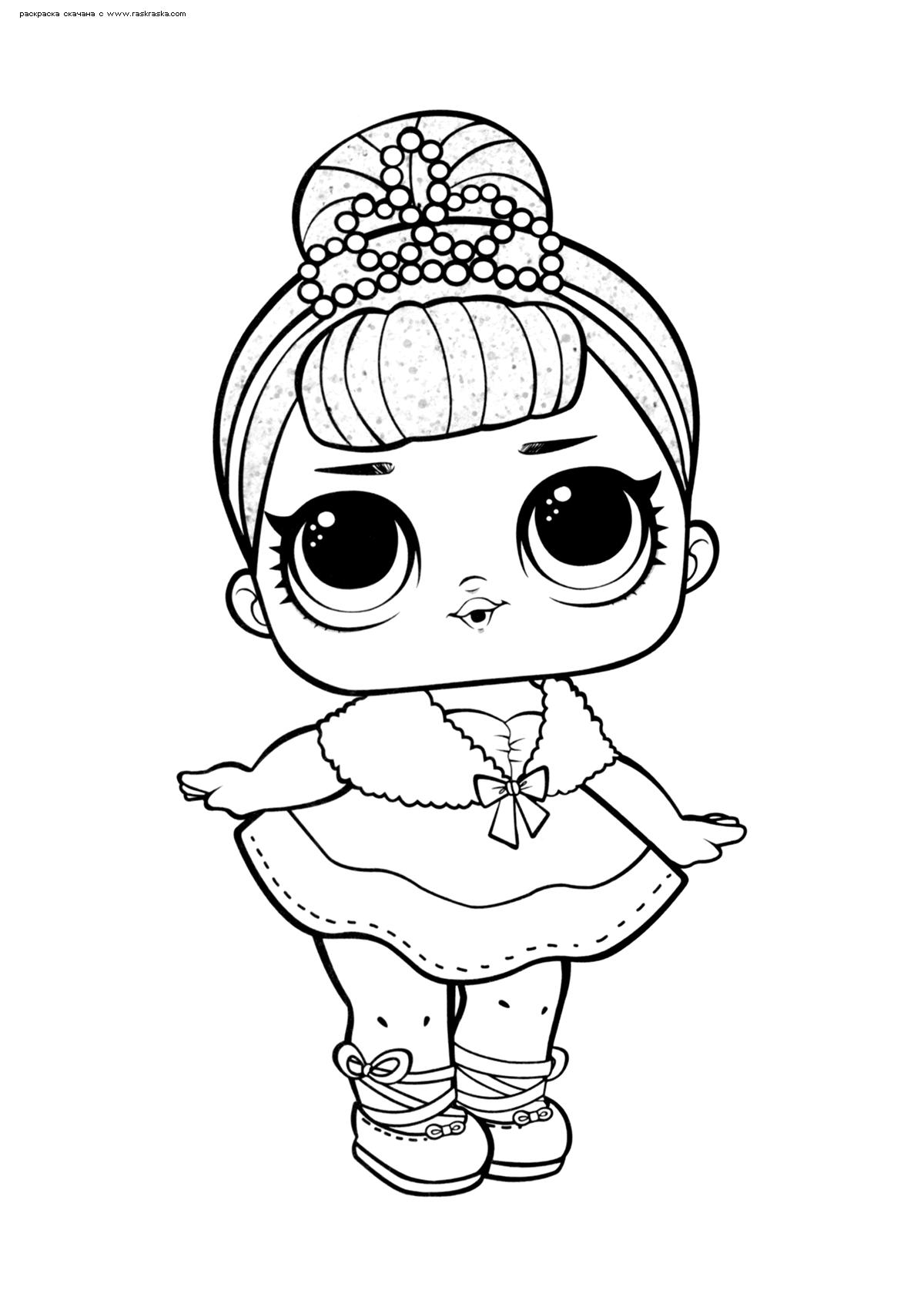 Раскраска ЛОЛ Crystal Queen (Королева Кристалл) серия 1. Раскраска лол