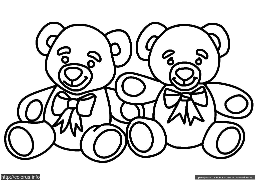 Раскраска Мишки. Раскраска Раскраска для маленьких детей с медведями, раскраска для малышей мишутки
