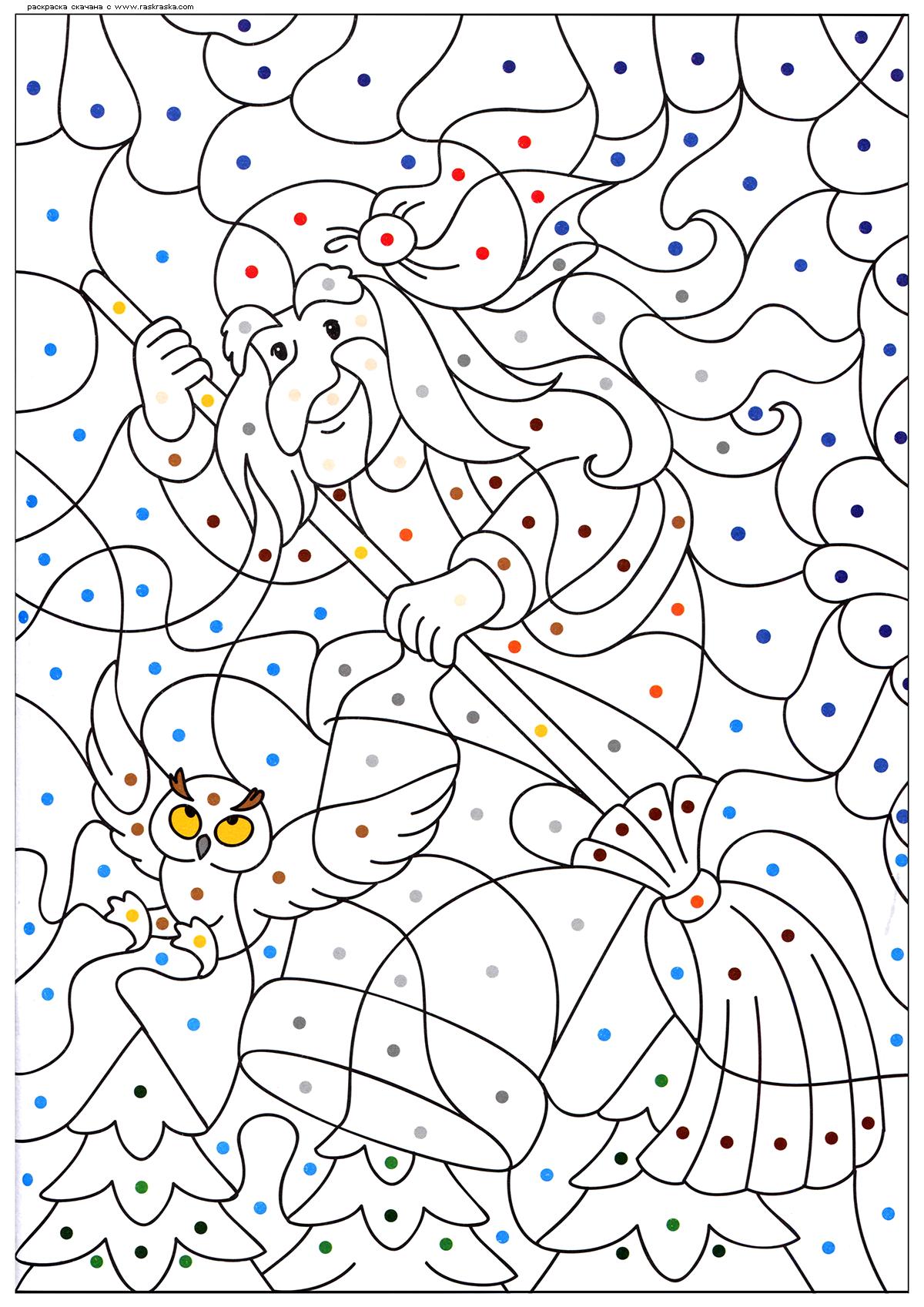 Раскраска Баба-Яга. Раскраска
