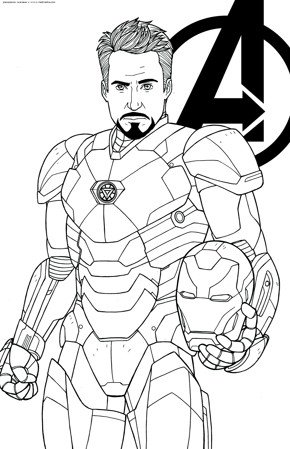 Раскраска Железный человек | Раскраски супергерои