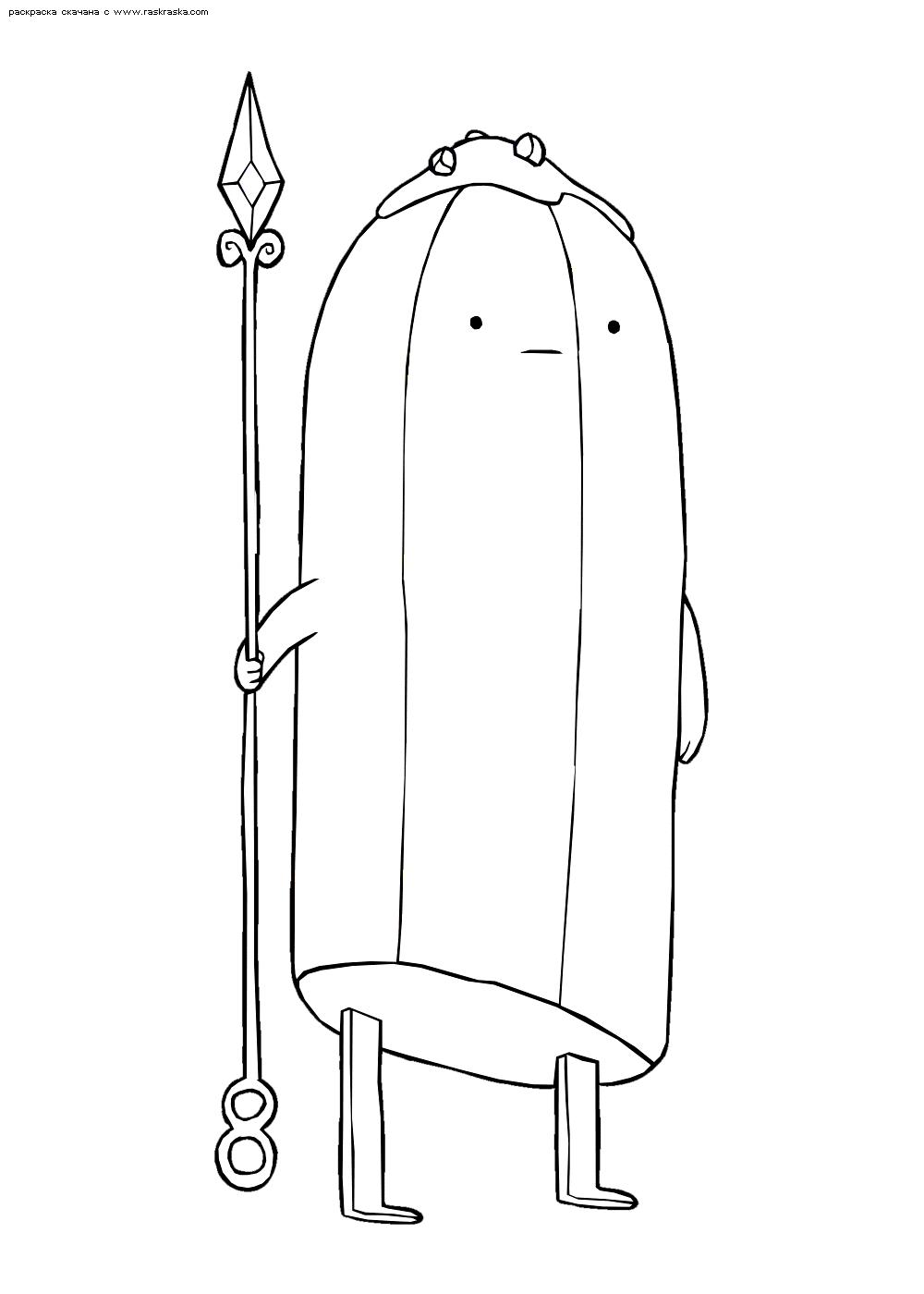 Раскраска Банановый стражник. Раскраска Время приключений