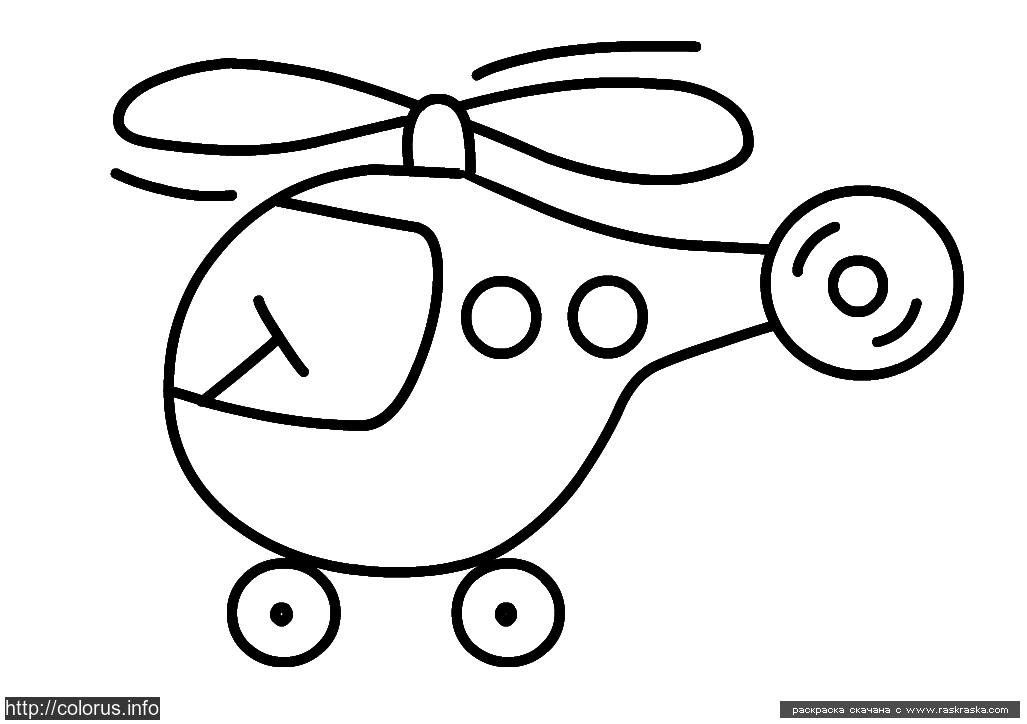 раскраска вертолетик раскраски для малышей простые раскраски