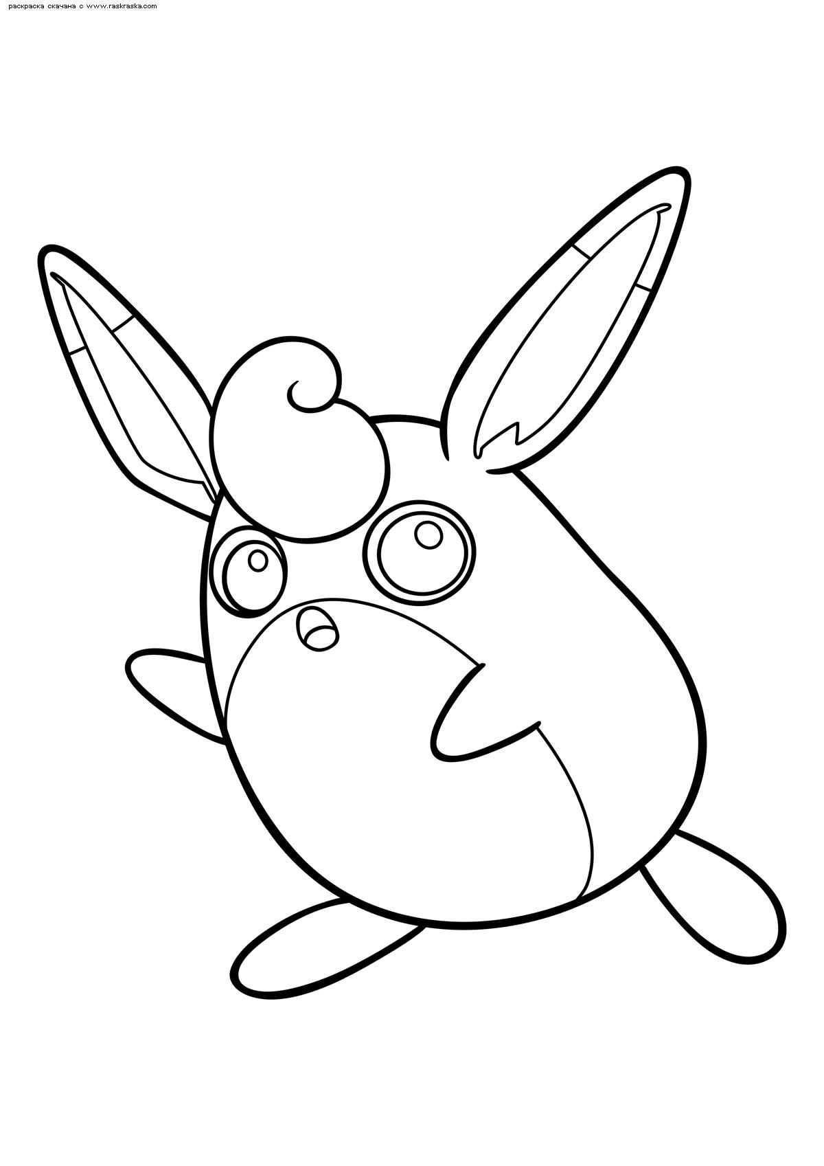 Раскраска Покемон Вигглитафф (Wigglytuff) | Раскраски ...