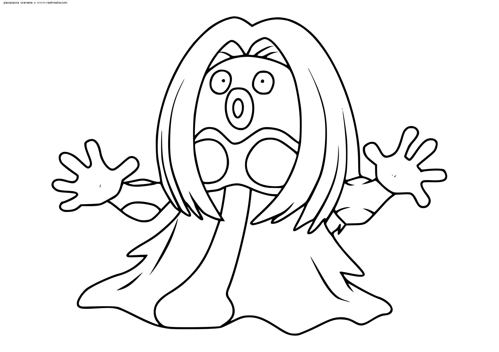 Раскраска Покемон Джинкс (Jynx) | Раскраски эволюция ...