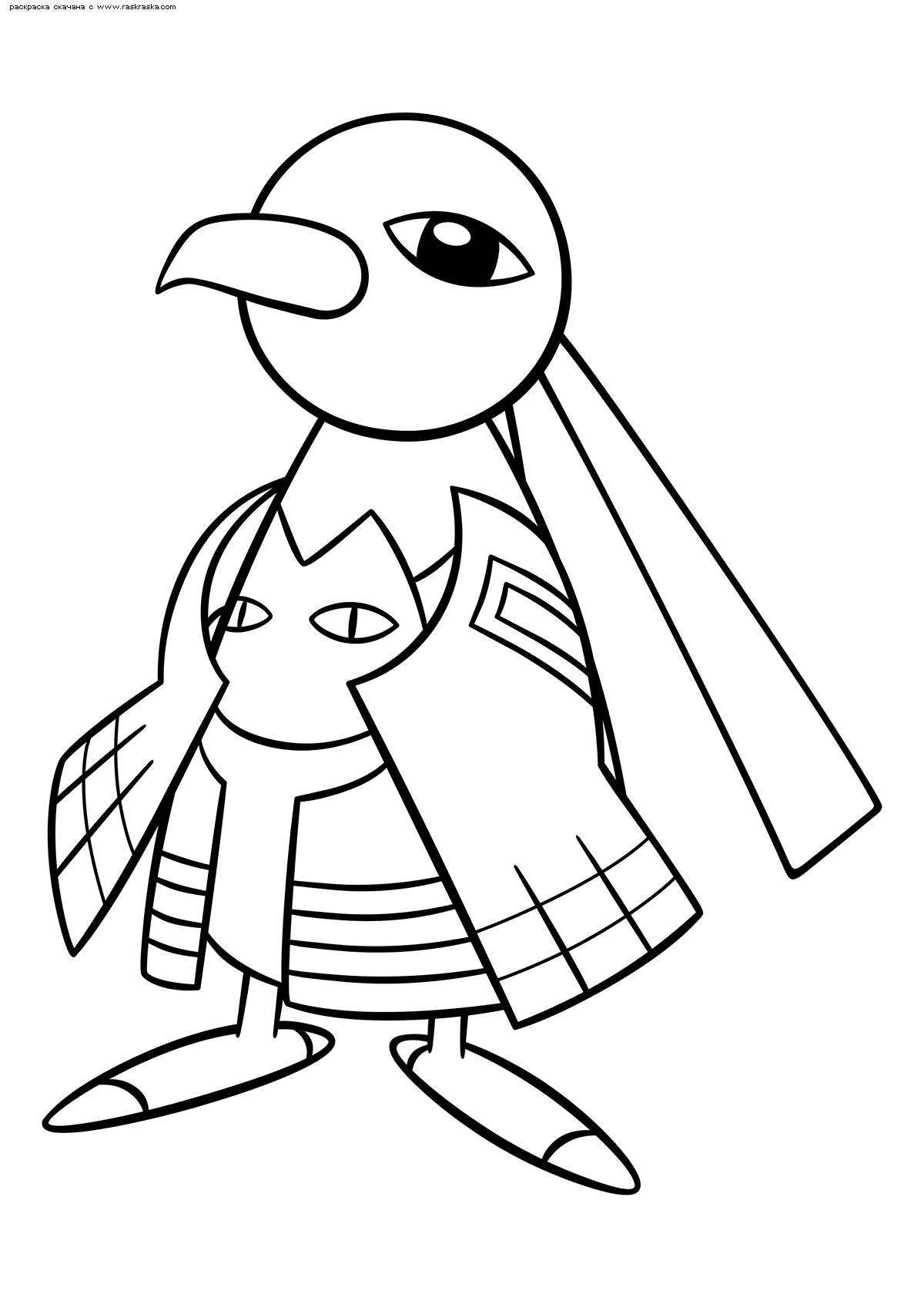 Раскраска Покемон Ксату (Xatu) | Раскраски эволюция ...