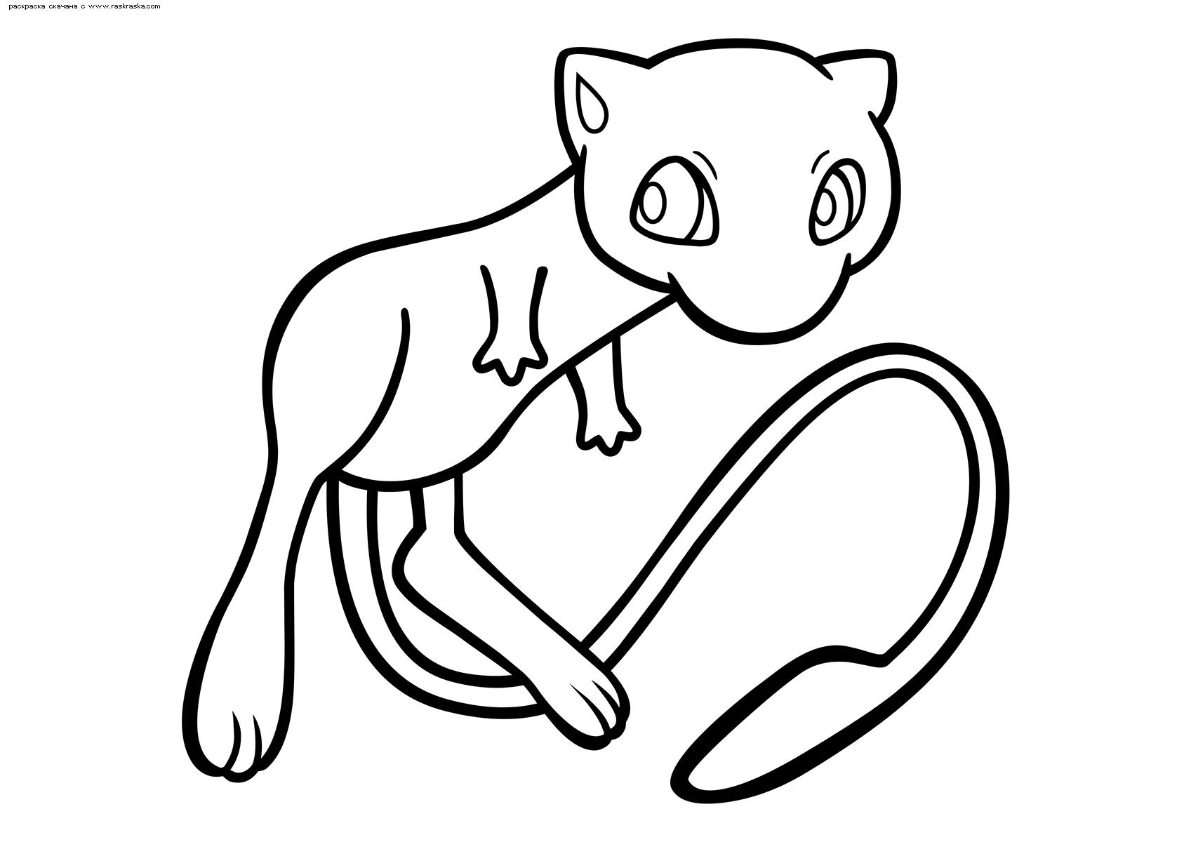 Раскраска Легендарный покемон Мью (Mew) | Раскраски ...