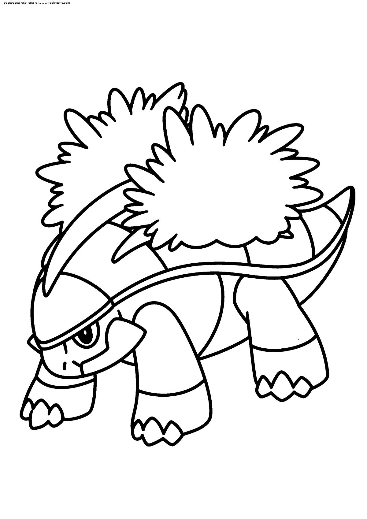 Раскраска Покемон Гротл (Grotle) | Раскраски эволюция ...