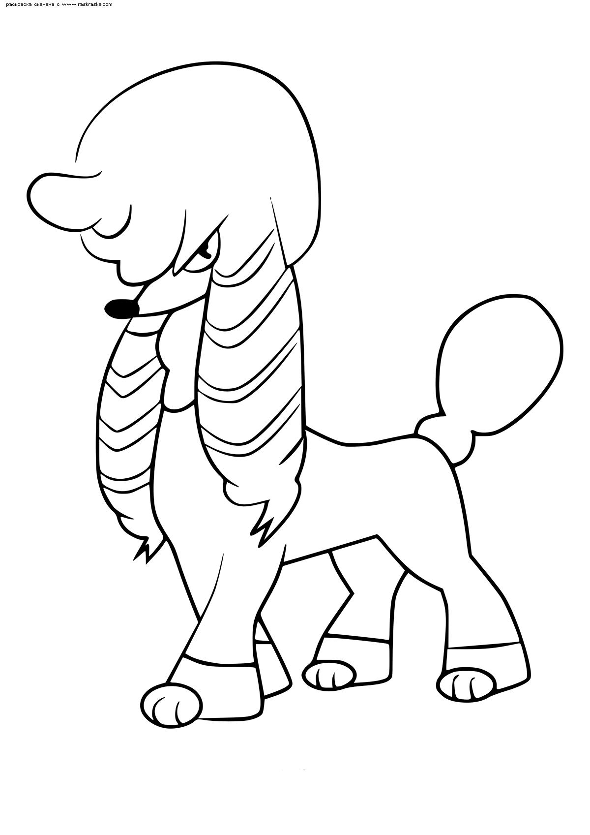 Раскраска Покемон Фурфу (Furfrou). Стиль королева. Раскраска Покемон