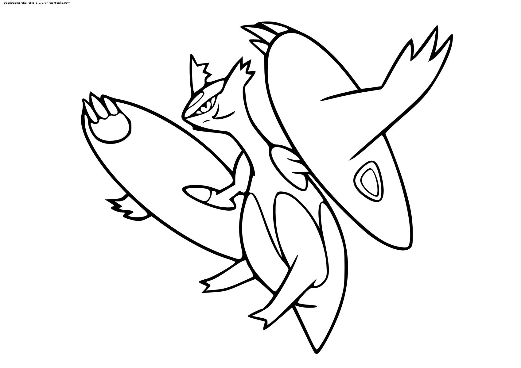 Раскраска Покемон Мега Латиас (Mega Latias). Раскраска Покемон