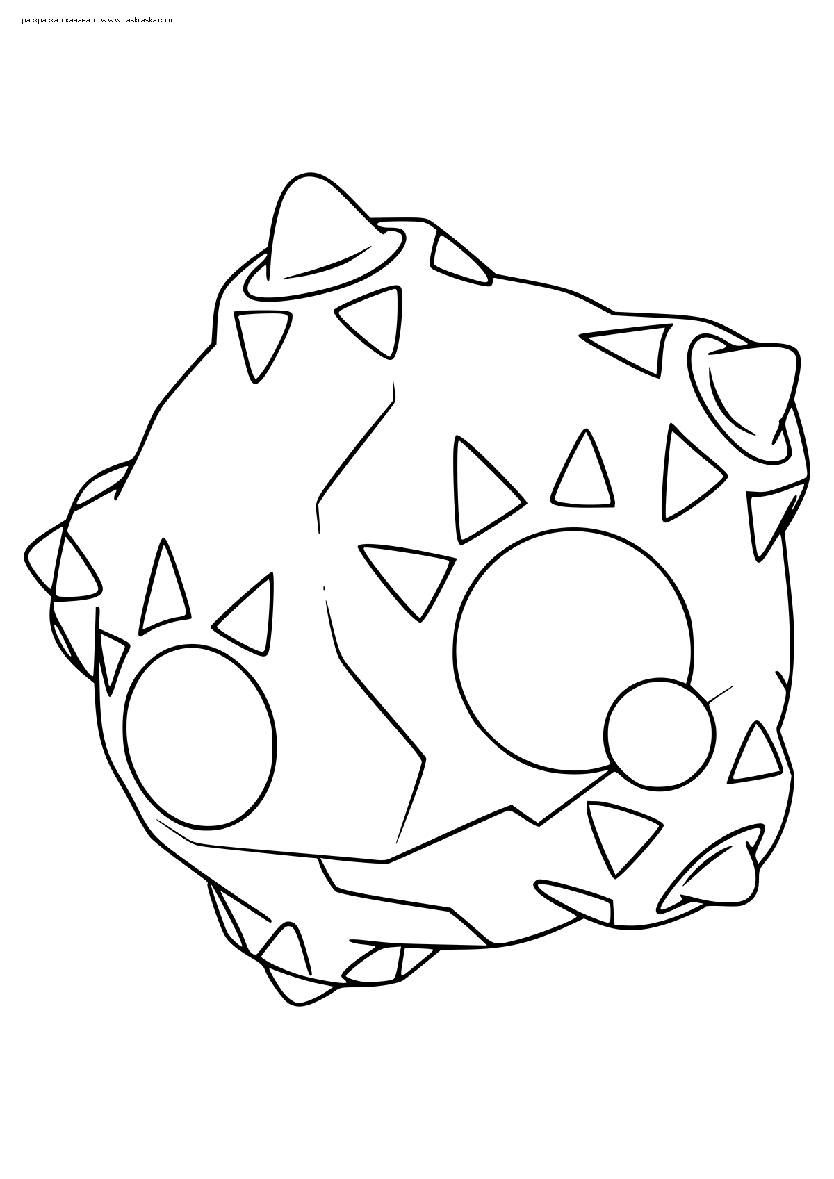 Раскраска Покемон Миниор (Minior). Раскраска Покемон