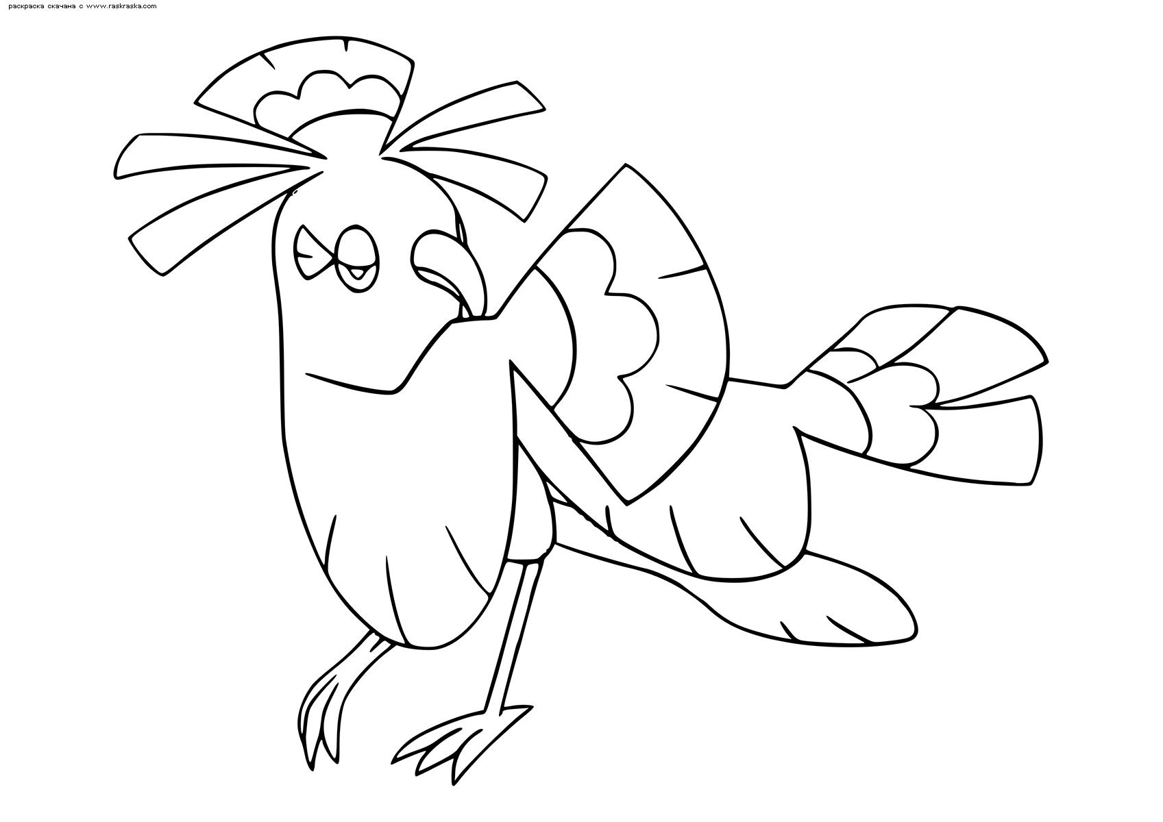 Раскраска Покемон Орикорио (Oricorio). Раскраска Покемон