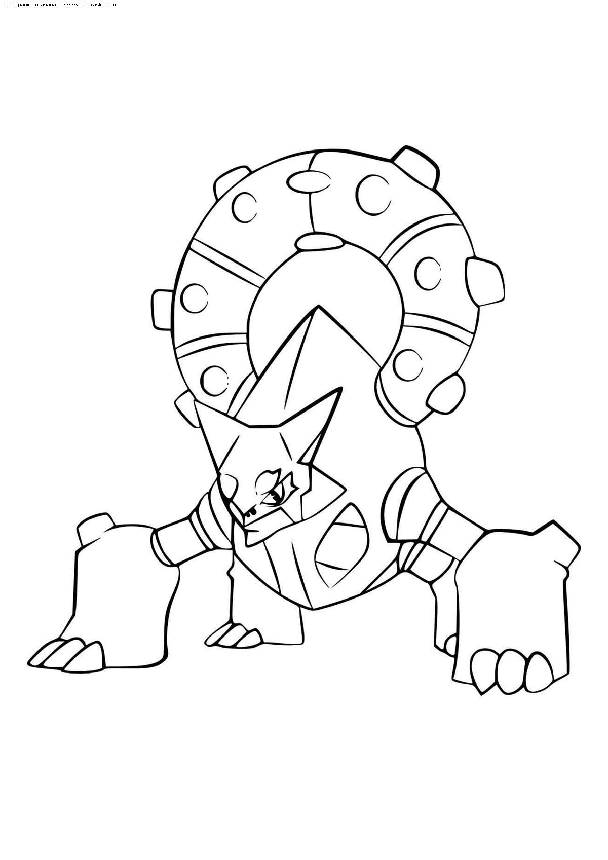 Раскраска Легендарный покемон Вулканьон (Volcanion). Раскраска Покемон