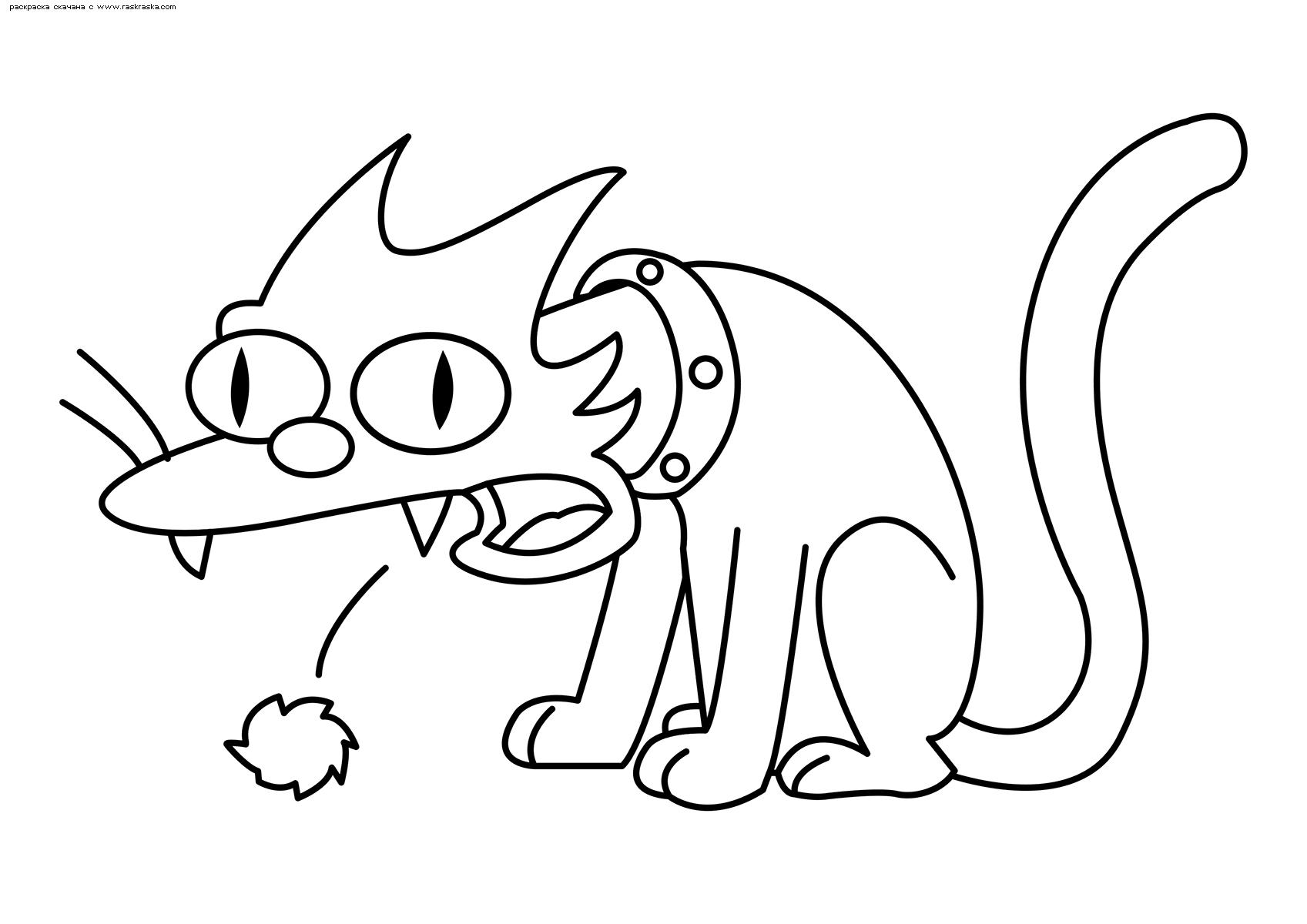 Раскраска Снежок 5. Раскраска Кошка, Симпсоны