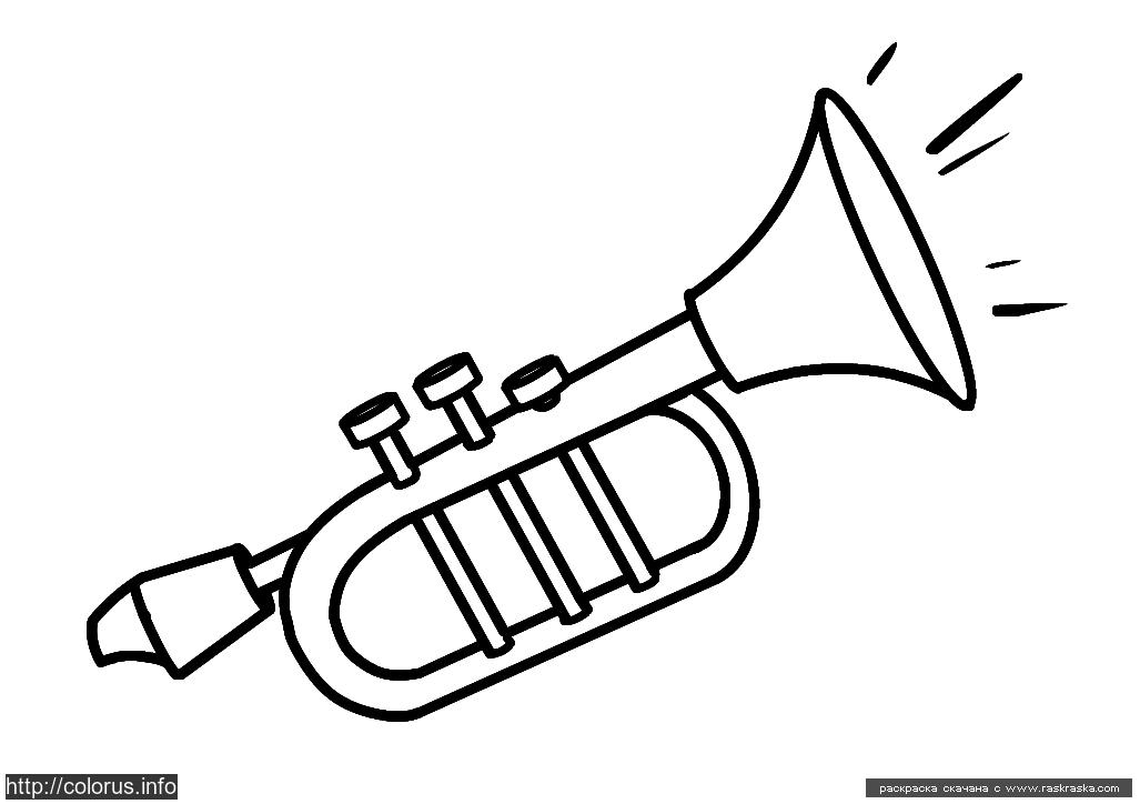 Раскраска Труба. Раскраска Простая раскраска для детей, раскраску труба для малышей просто скачать