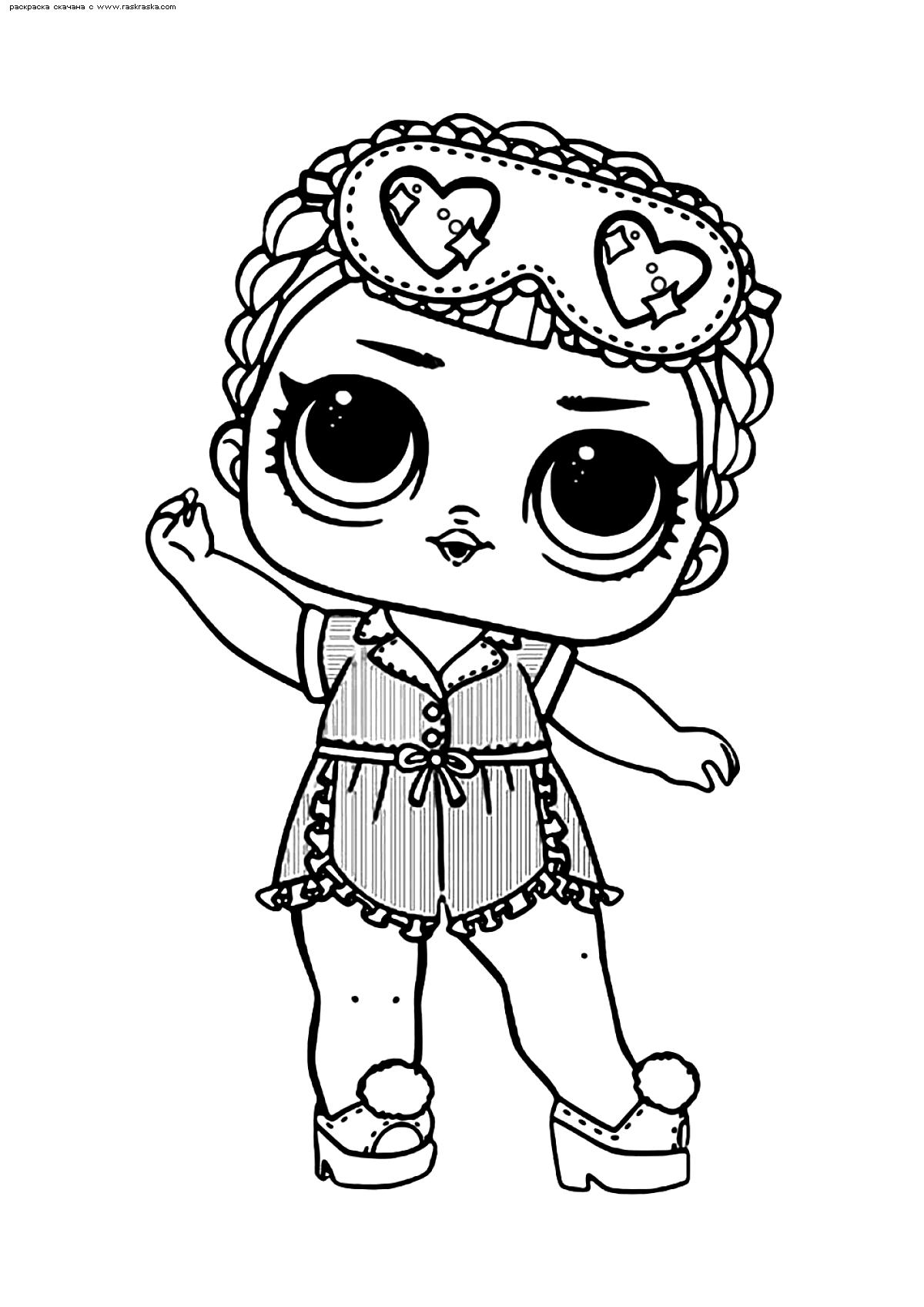 Раскраска ЛОЛ конфетти поп Соня БиБи | Раскраски ЛОЛ ...