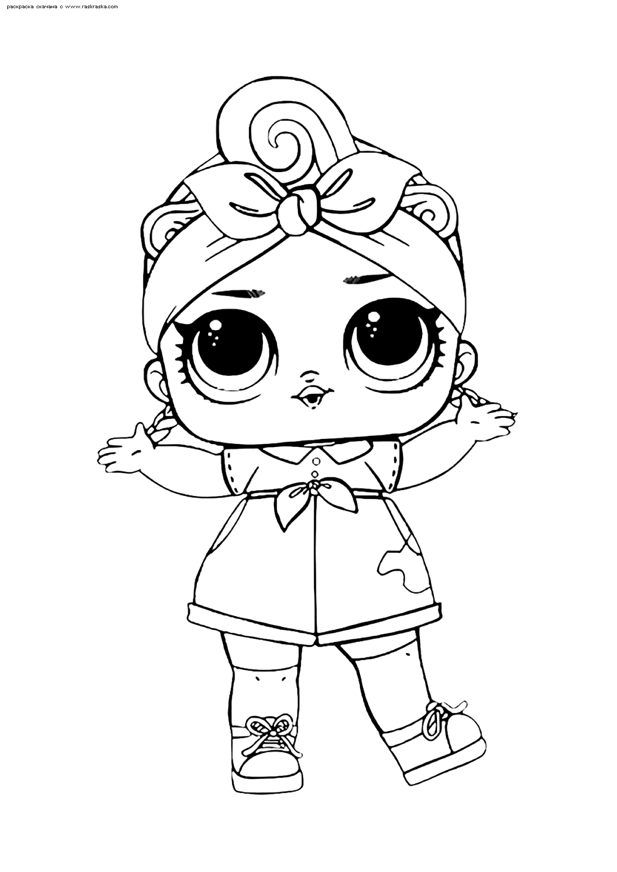 Раскраска ЛОЛ Can Do Baby конфетти поп( Работяжка). Раскраска лол