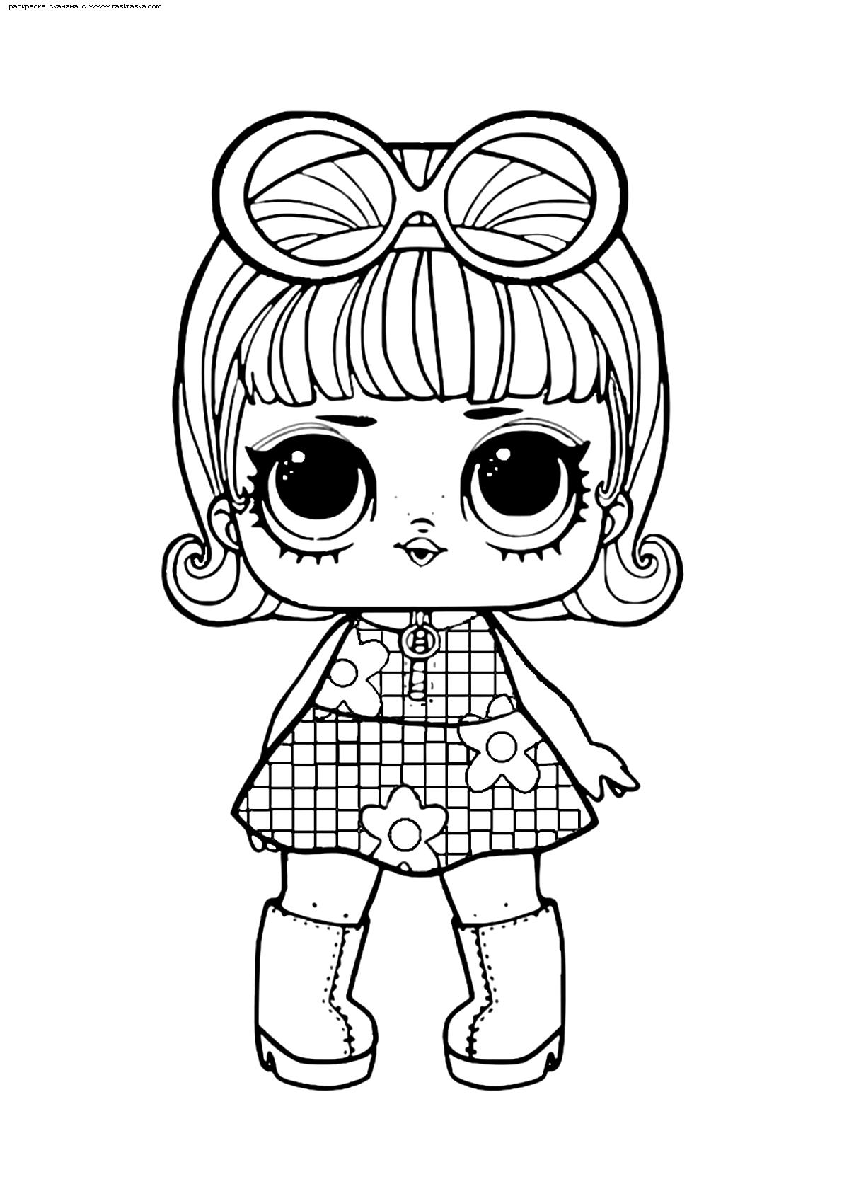 Раскраска ЛОЛ конфетти поп Девочка Гоу-Гоу | Раскраски ЛОЛ ...