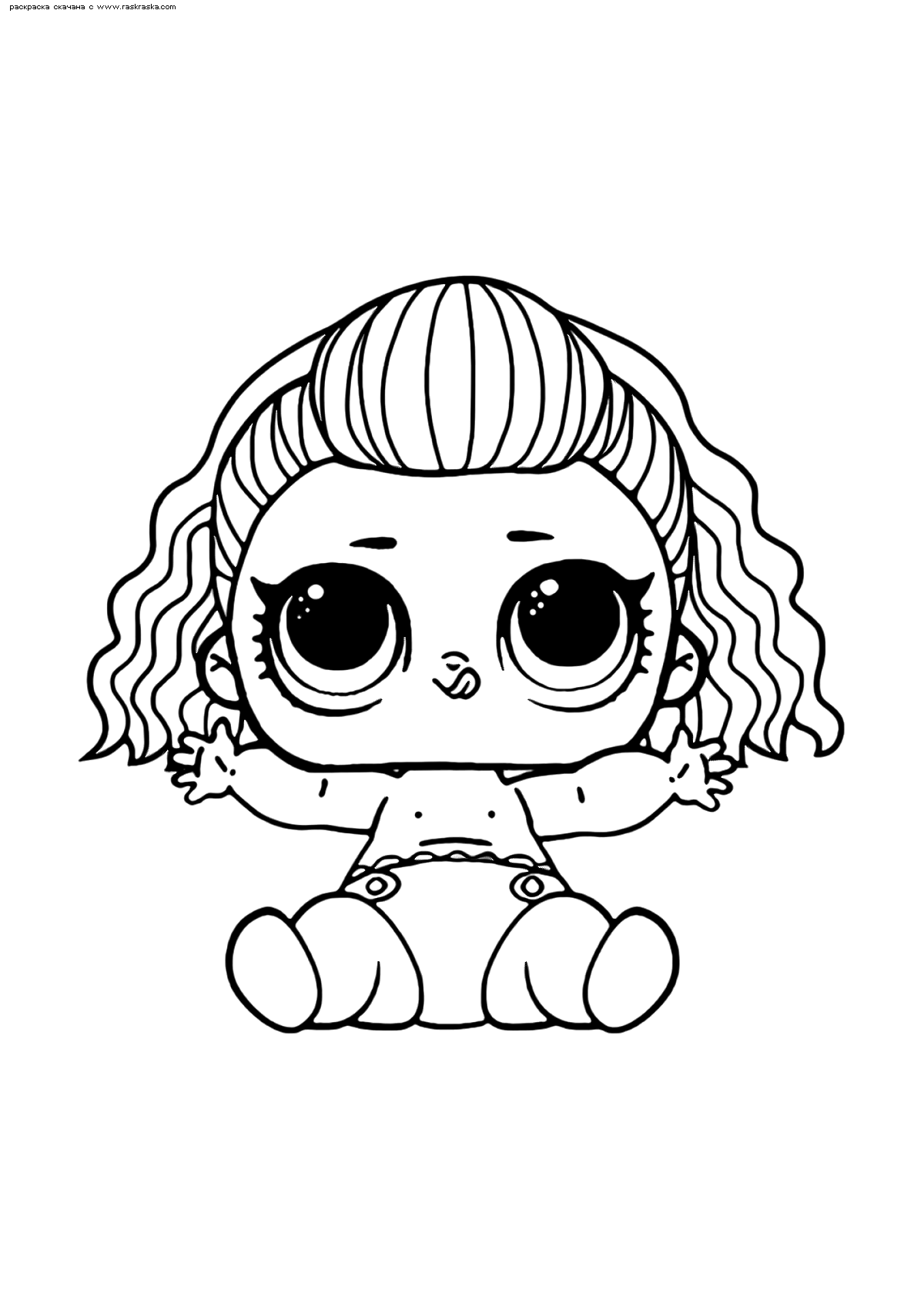 Раскраска ЛОЛ малышка БиБи из 80-х | Раскраски ЛОЛ ...