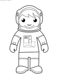 Космонавт - скачать и распечатать раскраску. Раскраска космонавт