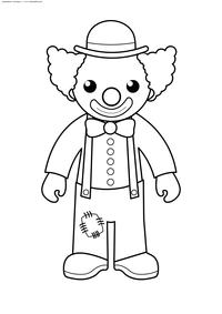 Клоун - скачать и распечатать раскраску. Раскраска клоун
