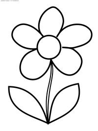 Цветок - скачать и распечатать раскраску. Раскраска цветок
