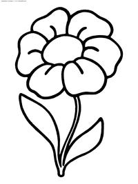 Раскраски цветов для маленьких детей